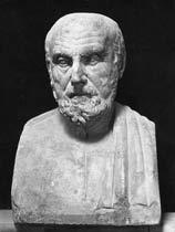 Buste en pierre d'Hippocrate