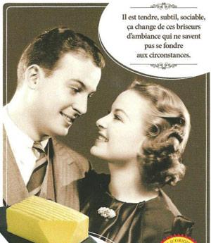 Extrait d'une affiche humoristique pour du beurre