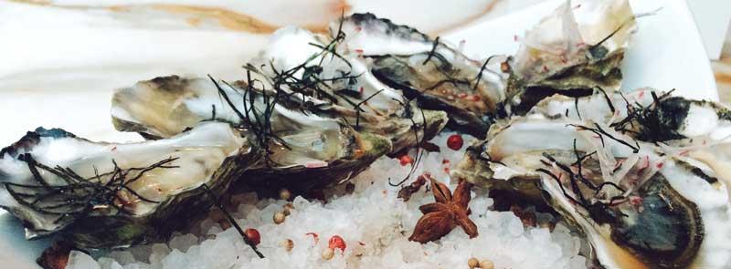Photographie d'un plat d'huîtres pour les fêtes de fin d'année.