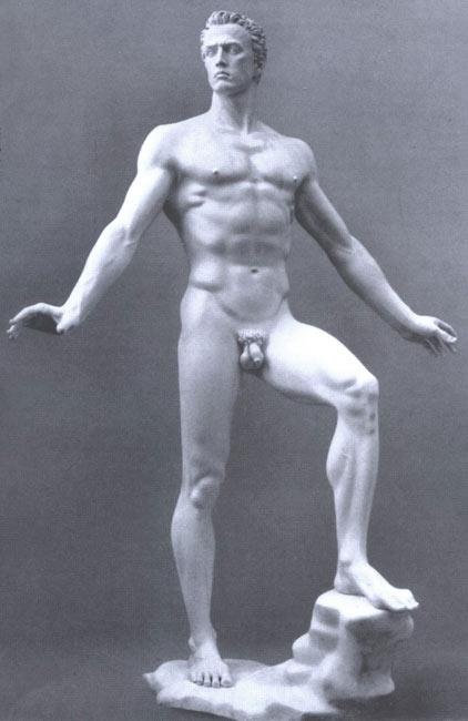 L'homme idéal selon les critères d'Hitler : « Der Sieger » d'Arno Breker, sculpteur officiel des nazis (1939)