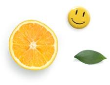 Smiley et orange
