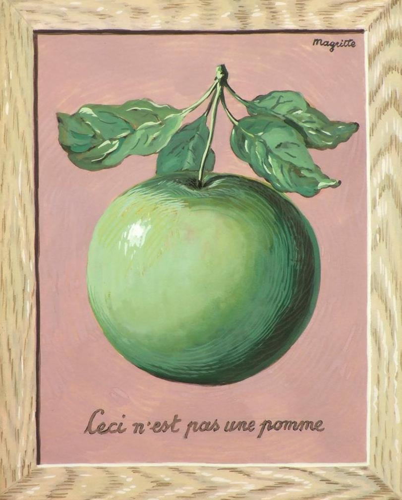 Peinture de René Magritte, Ceci n'est pas une pomme
