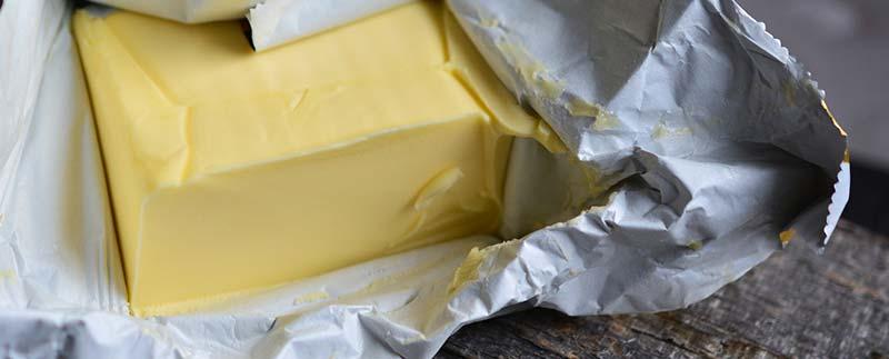 Photographie d'une motte de beurre