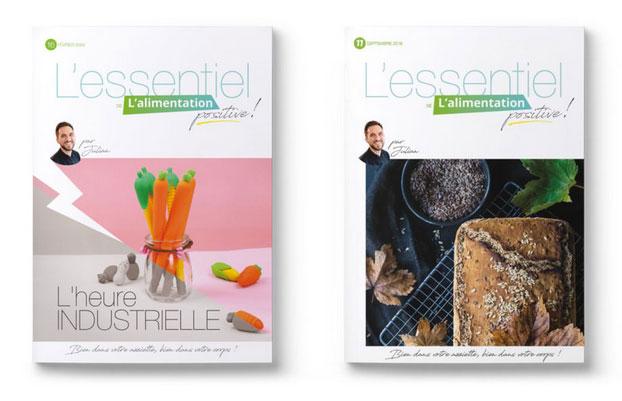 Deux numéros du magazine L'Essentiel de l'alimentation positive