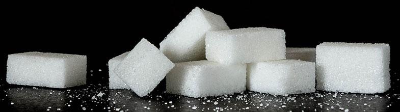 Diabète : morceaux de sucre blanc