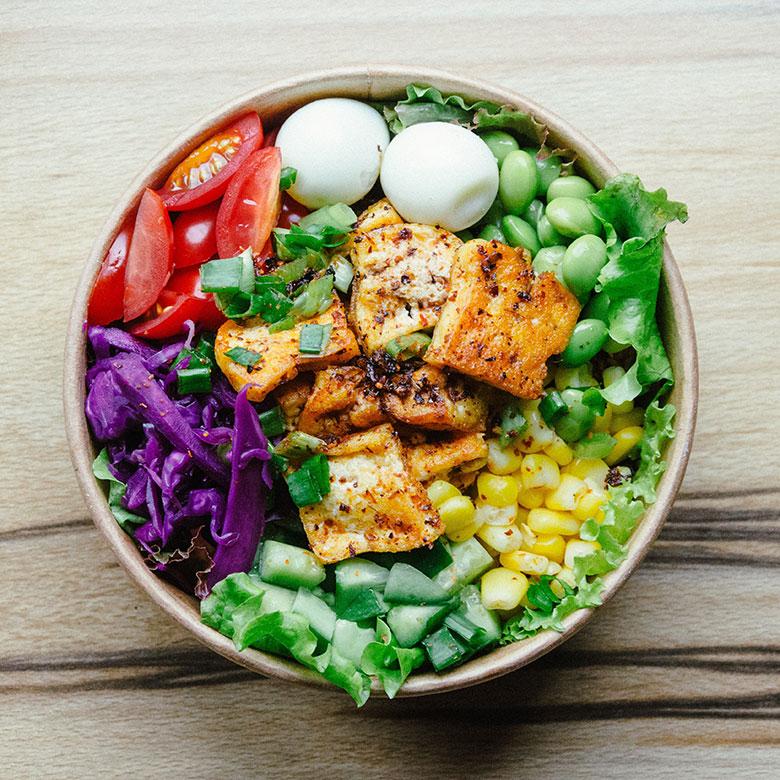 Salade de soja avec tofu